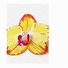 Phalaenopsis Yellow Flower, Floral Oil Painting Art Large Garden Flag (two Sides)