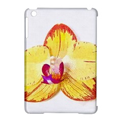 Phalaenopsis Yellow Flower, Floral Oil Painting Art Apple Ipad Mini Hardshell Case (compatible With Smart Cover)
