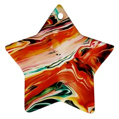 Abstract Acryl Art Star Ornament (two Sides)