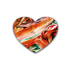 Abstract Acryl Art Rubber Coaster (heart)