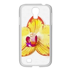 Phalaenopsis Yellow Flower, Floral Oil Painting Art Samsung Galaxy S4 I9500/ I9505 Case (white)