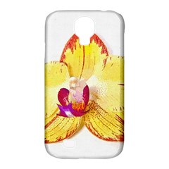 Phalaenopsis Yellow Flower, Floral Oil Painting Art Samsung Galaxy S4 Classic Hardshell Case (pc+silicone)