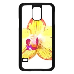Phalaenopsis Yellow Flower, Floral Oil Painting Art Samsung Galaxy S5 Case (black)