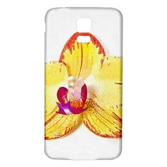 Phalaenopsis Yellow Flower, Floral Oil Painting Art Samsung Galaxy S5 Back Case (white)