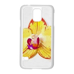 Phalaenopsis Yellow Flower, Floral Oil Painting Art Samsung Galaxy S5 Case (white)