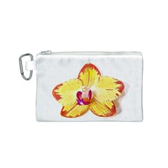Phalaenopsis Yellow Flower, Floral Oil Painting Art Canvas Cosmetic Bag (s)