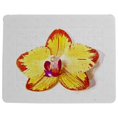 Phalaenopsis Yellow Flower, Floral Oil Painting Art Jigsaw Puzzle Photo Stand (rectangular)