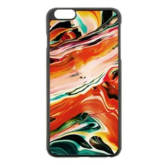 Abstract Acryl Art Apple Iphone 6 Plus/6s Plus Black Enamel Case