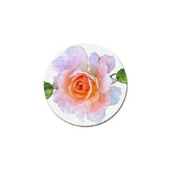 Pink Rose Flower, Floral Oil Painting Art Golf Ball Marker (10 Pack)