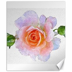 Pink Rose Flower, Floral Oil Painting Art Canvas 8  X 10
