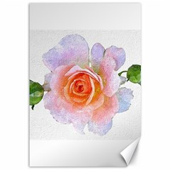 Pink Rose Flower, Floral Oil Painting Art Canvas 12  X 18
