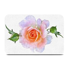 Pink Rose Flower, Floral Oil Painting Art Plate Mats