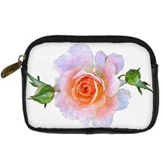 Pink Rose Flower, Floral Oil Painting Art Digital Camera Cases