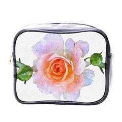 Pink Rose Flower, Floral Oil Painting Art Mini Toiletries Bags