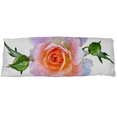 Pink Rose Flower, Floral Oil Painting Art Body Pillow Case (dakimakura)