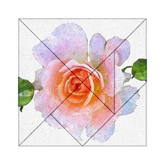 Pink Rose Flower, Floral Oil Painting Art Acrylic Tangram Puzzle (6  X 6 )