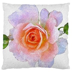 Pink Rose Flower, Floral Oil Painting Art Large Cushion Case (two Sides)