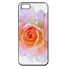 Pink Rose Flower, Floral Oil Painting Art Apple Iphone 5 Seamless Case (black)