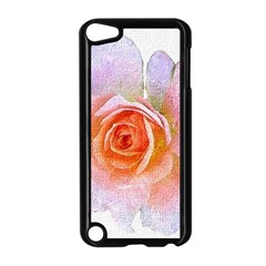 Pink Rose Flower, Floral Oil Painting Art Apple Ipod Touch 5 Case (black)