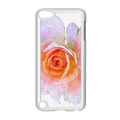 Pink Rose Flower, Floral Oil Painting Art Apple Ipod Touch 5 Case (white)