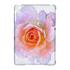 Pink Rose Flower, Floral Oil Painting Art Apple Ipad Mini Hardshell Case (compatible With Smart Cover)