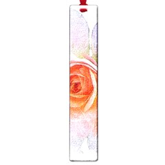 Pink Rose Flower, Floral Oil Painting Art Large Book Marks
