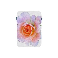 Pink Rose Flower, Floral Oil Painting Art Apple Ipad Mini Protective Soft Cases