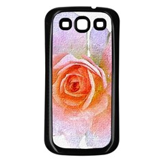 Pink Rose Flower, Floral Oil Painting Art Samsung Galaxy S3 Back Case (black)