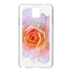 Pink Rose Flower, Floral Oil Painting Art Samsung Galaxy Note 3 N9005 Case (white)