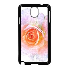Pink Rose Flower, Floral Oil Painting Art Samsung Galaxy Note 3 Neo Hardshell Case (black)