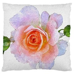 Pink Rose Flower, Floral Oil Painting Art Large Flano Cushion Case (one Side)