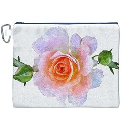 Pink Rose Flower, Floral Oil Painting Art Canvas Cosmetic Bag (xxxl)