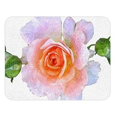 Pink Rose Flower, Floral Oil Painting Art Double Sided Flano Blanket (large)
