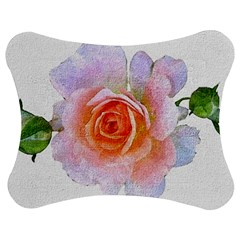 Pink Rose Flower, Floral Oil Painting Art Jigsaw Puzzle Photo Stand (bow)