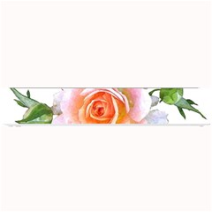 Pink Rose Flower, Floral Watercolor Aquarel Painting Art Small Bar Mats