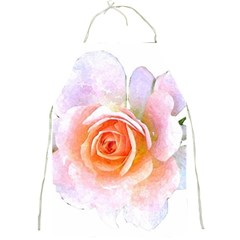 Pink Rose Flower, Floral Watercolor Aquarel Painting Art Full Print Aprons
