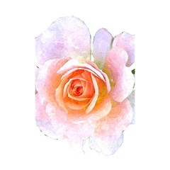 Pink Rose Flower, Floral Watercolor Aquarel Painting Art Shower Curtain 48  X 72  (small)