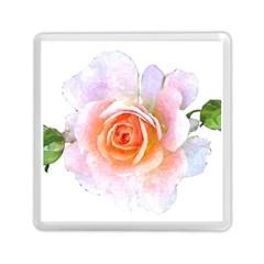 Pink Rose Flower, Floral Watercolor Aquarel Painting Art Memory Card Reader (square)