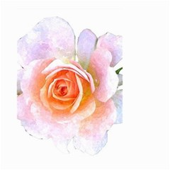Pink Rose Flower, Floral Watercolor Aquarel Painting Art Small Garden Flag (two Sides)