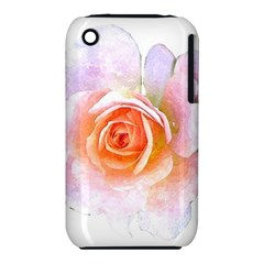 Pink Rose Flower, Floral Watercolor Aquarel Painting Art Iphone 3s/3gs