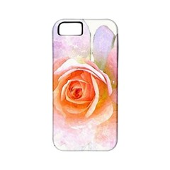 Pink Rose Flower, Floral Watercolor Aquarel Painting Art Apple Iphone 5 Classic Hardshell Case (pc+silicone)