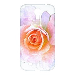 Pink Rose Flower, Floral Watercolor Aquarel Painting Art Samsung Galaxy S4 I9500/i9505 Hardshell Case
