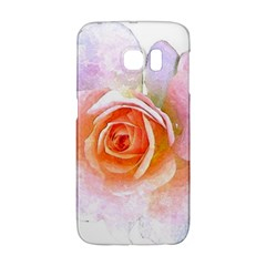 Pink Rose Flower, Floral Watercolor Aquarel Painting Art Galaxy S6 Edge