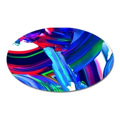 Abstract Acryl Art Oval Magnet