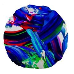 Abstract Acryl Art Large 18  Premium Flano Round Cushions