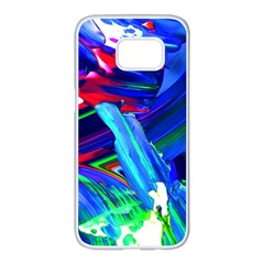 Abstract Acryl Art Samsung Galaxy S7 Edge White Seamless Case