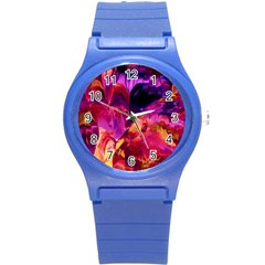 Abstract Acryl Art Round Plastic Sport Watch (s)