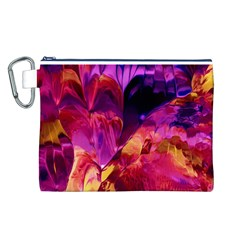 Abstract Acryl Art Canvas Cosmetic Bag (l)