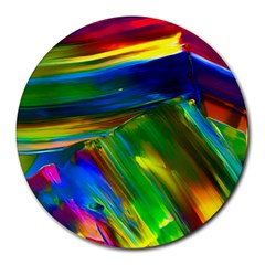 Abstract Acryl Art Round Mousepads