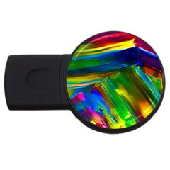 Abstract Acryl Art Usb Flash Drive Round (4 Gb)